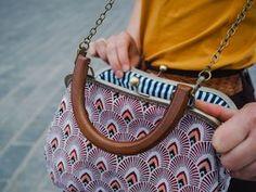 Sac + pochette + porte-monnaie vintage - patron de couture
