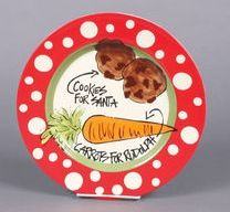 Cookies for Santa / carrots for Rudolph plate