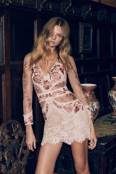 #Fashion brand For Love & Lemons turns up romantic vibes for its spring 2017 collection. Starring model Magdalena Frackowiak, the Polish beauty poses for Zoey Grossman in the official lookbook images. The line of dresses, #lingerie and separates takes inspiration from Spanish cities. #Floral prints, lace and ruffled embellishments stun with sultry silhouettes. A palette …