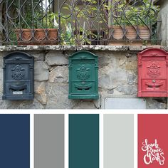 I love these colors! | Click for more color combinations and color palettes inspired by the Pantone Fall 2017 Color Trends, plus other coloring inspiration at http://sarahrenaeclark.com | Colour palettes, colour schemes, color therapy, mood board, color hue