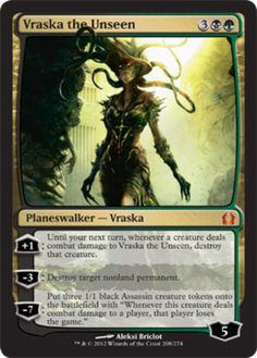 mtg magic the gathering vraska the unseen planeswalker card mythic rare