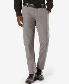 Dockers Men's Alpha Slim-Fit Stretch Twill Pants  - Gray 34x32