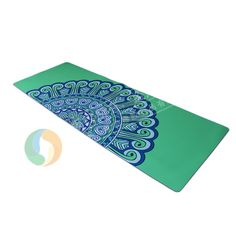 Peacock pattern yoga mats customised design