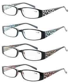 83806f28ef89 Reading Glasses 4 Pack Great Value Quality Readers Fashion Crystal design Womens  glasses for reading 15