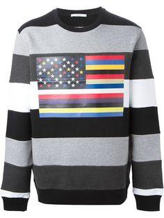 GIVENCHY Flag Print Sweatshirt. #givenchy #cloth #sweatshirt