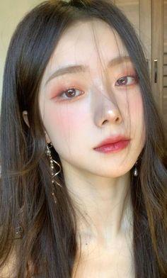 Makeup Korean Style, Asian Makeup Looks, Korean Natural Makeup, Korean Eye Makeup, Edgy Makeup, Cute Makeup, Pretty Makeup, Beauty Makeup, Hair Makeup