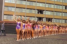 Neal Slavin is the master of group photography; Miss USA contestants, Americana Hotel, New York www.bellerbyandco.com