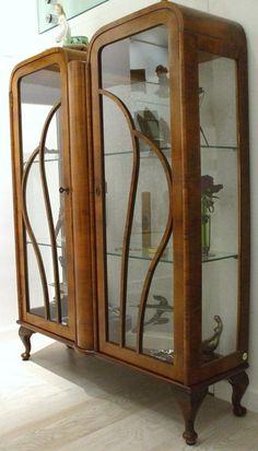 caladoriente - Mobili > vetrine > vetrinetta inglese in noce ...