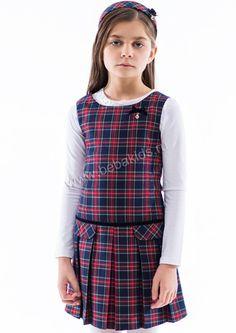 """Платье """"Складка"""" для девочки 28626-098 разноцветный Noble People"""