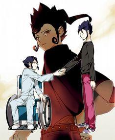 Victor y Vladimir Blade Inazuma Eleven Go