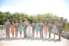 Beautiful pastel wedding featured on @Sab Every Last Detail®  ! #DonnaMorganCollection