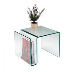 Bijzettafel glas Clear Club N by: Kare design