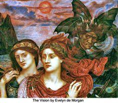 """""""The Vision"""" - Evelyn De Morgan"""