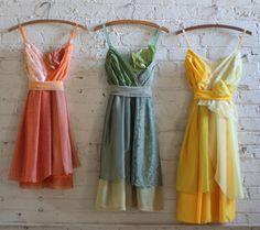 Custom Mismatched Bridesmaids Dresses by ArmoursansAnguish on Etsy