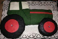 Traktor Torte (Biskuit- Zitronencreme Füllung)