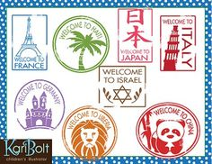 If you have purchased the Christmas Around the World Clip Art Bundle you would have some of these passport stamps but this set also includes 7 additional stamps: Philippines, Spain, China, Haiti, Japan, Israel, and Liberia. In addition to those 7 countries include: Australia, England, Italy, France, Germany, Sweden, The Netherlands, USA, Mexico and Brazil. (These are the countries included in the Christmas bundle)17 countries in all 300dpi, color and black and white, high resolution files…