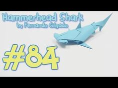 This origami video I will show you how to make / fold paper fantastic, cool origami Hammerhead shark designed by Fernando Gilgado Diagram and origami instruc. Origami And Kirigami, Origami Folding, Paper Crafts Origami, Useful Origami, Oragami, Diy Origami, Origami Tutorial, Paper Folding, Origami Rabbit Instructions