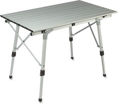 REI Camp Adjustable Roll Table Individually adjustable legs and a large table top surface make this a winner. Adjustable Table, Adjustable Legs, Accessoires Camping Car, Camper Table, Camping And Hiking, Camping Stuff, Family Camping, Camping Gear, Backpacking