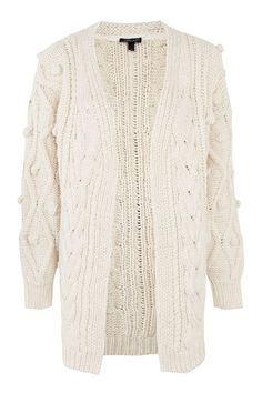 Go crazy for cable knit this season with this ivory cable bobble cardigan. Team with straight leg jeans and a retro top. Fall Sweaters, Asos, Topshop, Stay Tuned, Womens Fashion, Cable, How To Wear, Hair, Accessories
