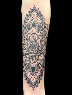 Lotus Mandala Tattoo. Black work tattoo. For email inquiries, email kellybundetattoo@gmail.com