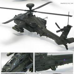 "[Academy] 1/72 British Army AH-64 ""Afghanistan"" Plastic Model Kit 12537 #ACADEMY"