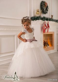 Wholesale Off Shoulder Lace Sash Ball Gown Net Baby Girl Birthday Party Christmas Princess Dresses Children Girl Party Dresses Flower Girl Dresses, $44.08/Piece | DHgate Mobile