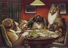 Beloved By All But The Art World – The Dogs Playing Poker Painting by Cassius Marcellus Coolidge Caspar David Friedrich, Scooby Doo, Jouer Au Poker, Dogs Playing Poker, Dog Wallpaper, Cute Stories, Illustration Artists, Illustrations, Hanging Art