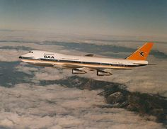 Vintage SAA Boeing 747 Cargo Aircraft, Passenger Aircraft, Aircraft Images, Boeing 707, Jumbo Jet, Air Photo, Commercial Aircraft, Civil Aviation, African History