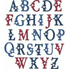A - Z Alphabet - Uppercase - Stars - Silhouette Online Store Monogram Fonts, Monogram Letters, Letters And Numbers, Free Monogram, Tattoo Lettering Fonts, Lettering Design, Lettering Styles, Lettering Tutorial, Typography