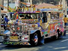 Jeepney buses of the Philippines are probably the most flamboyant means of public transportation in the world
