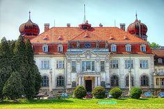 Pałac w Brynku - Front