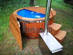 Hot tub idromassaggio in vetroresina con stufa esterna - TimberIN