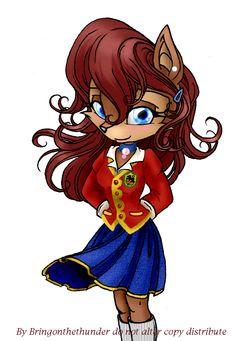 Sally Acorn - School Uniform by TurtieDroppings.deviantart.com on @deviantART