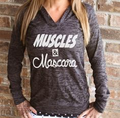 Muscles  Mascara workout shirt