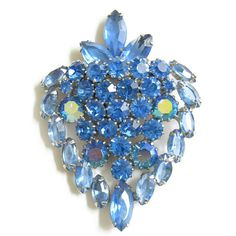 Vintage JULIANA D&E Verified Blue Rhinestones by MyVintageJewels