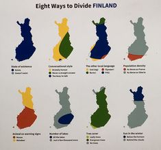 Eight ways to divide Finland. Heikki Salko posted this picture originally in Reddit. I think it's brilliant. :)