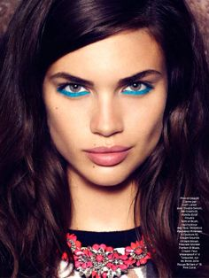 Sara Sampaio by Nelson Simoneau for Be Magazine May 2013 #makeup