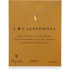 Dogeared I Heart California Pendant Necklace ($58) ❤ liked on Polyvore featuring jewelry, necklaces, gold, pendant necklace, handcrafted jewellery, handcrafted jewelry, 14 karat gold necklace and dogeared necklace