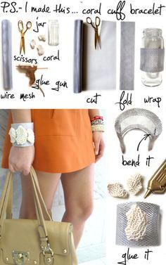 Wire cuff -- skip the coral
