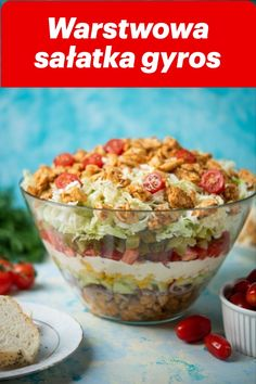 Salad Recipes, Diet Recipes, Cooking Recipes, Party Salads, Polish Recipes, Keto Meal Plan, Food Inspiration, Meal Planning, Good Food
