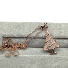 Hot 18kt White/Rose Gold Christmas Tree Crystal Zircon Pendant  Necklace Chain  #Unbranded #Fashion #Anniversarywedding