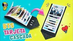 DIY KPOP ☆ ¡Haz una TARJETA CASCADA de BTS! Regalo Fácil y Bonito para t...
