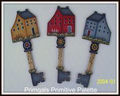 Primitive Saltbox House Key