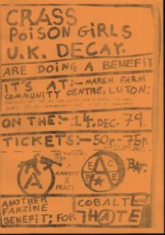 Uk Decay Pictures :: Flyers posters and memoralbilia :: crasspgukdecayflyer
