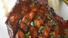 Hoisin Glazed Pork Chops Recipe - Butter Your Biscuit Easy Oven Baked Ribs, Baked Bbq Ribs, Baked Pork, Grilled Pork, Pork Ribs, Oven Ribs, Brown Sugar Pork Chops, Glazed Pork Chops, Rib Recipes