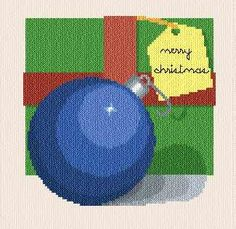 Christmas ball cross stitch pattern.