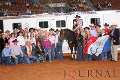 The 2005 Farnam Superhorse Award was presented to the 1997 stallion, With All Probability, who is owned by Ticket Enterprises from Stilwell, Kansas. Visit http://www.AQHA.com/showing for more great American Quarter Horse showing news. (Journal Photo)