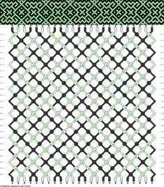 green pattern for multicolor threads