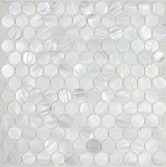 Penny round sea shell mosaic bathroom tiles Mother of pearl tile backsplash MOP051 mother of pearl mosaic tile [MOP051] - $25.85 : MyBuildingShop.com
