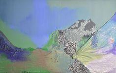 Collage: Acryl auf Leinwand, 150x95cm Käuflich zu erwerben Custom Art, Collage, Waves, Artwork, Painting, Brush Strokes, Fantasy World, Fireworks, Abstract Art